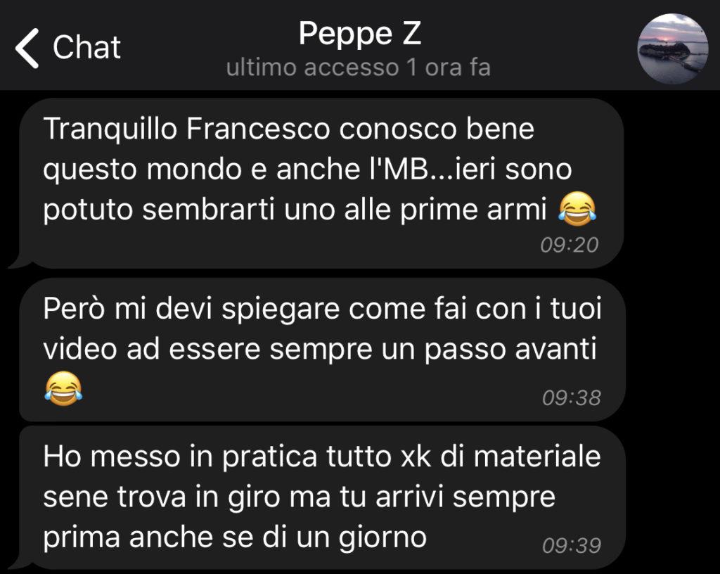 Testimonianze - Peppe Z. lascia una recensione positiva.