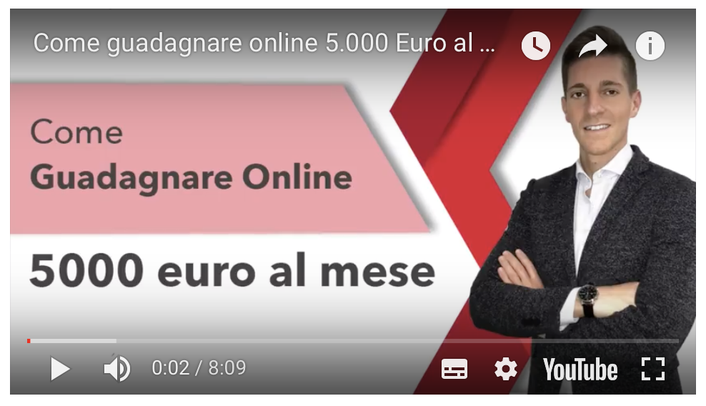 Come guadagnare online 5.000 Euro al mese al di fuori del tuo lavoro principale!